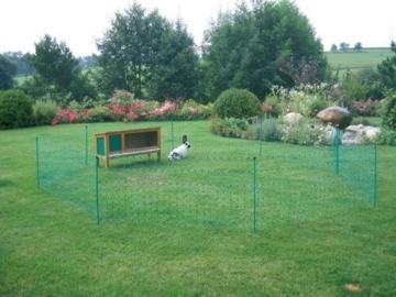 grüner Gartenzaun 50 m x 112 cm Hühnerzaun + 14 Pfähle Hühner-Zaun Geflügelzaun Garten - 2